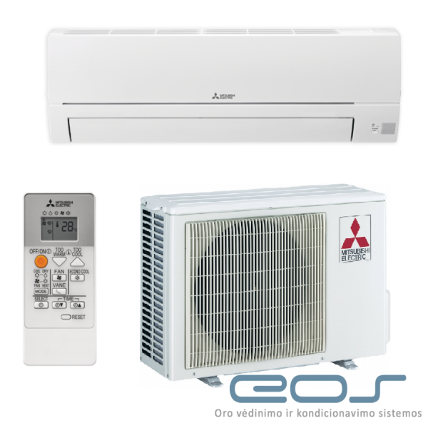 Mitsubishi Electric 2.5/3.1 kW oro kondicionierius - šilumos siurblys (MSZ-HR25VF+MUZ-HR25VF)