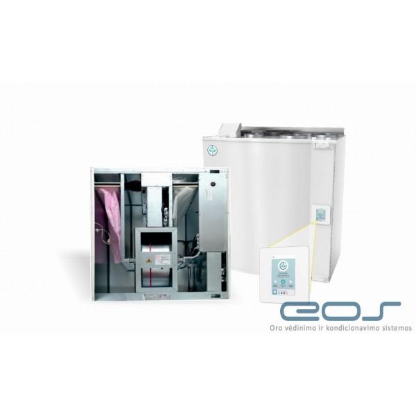 Vėdinimo rotacinis rekuperatorius EnergySaving IPRT-150/B (su įmontuotu 1000W kaloriferiu)